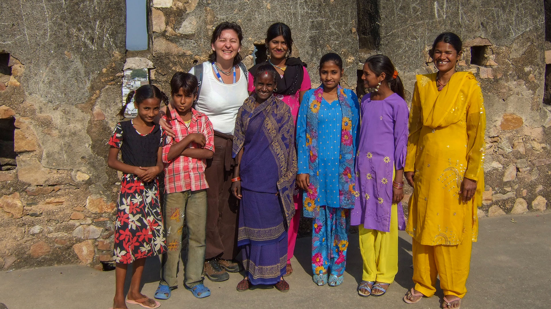 Jhansi Kalesinde yerel halk