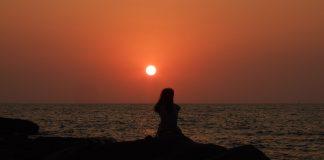 Palolem sahilinde güneş batışı