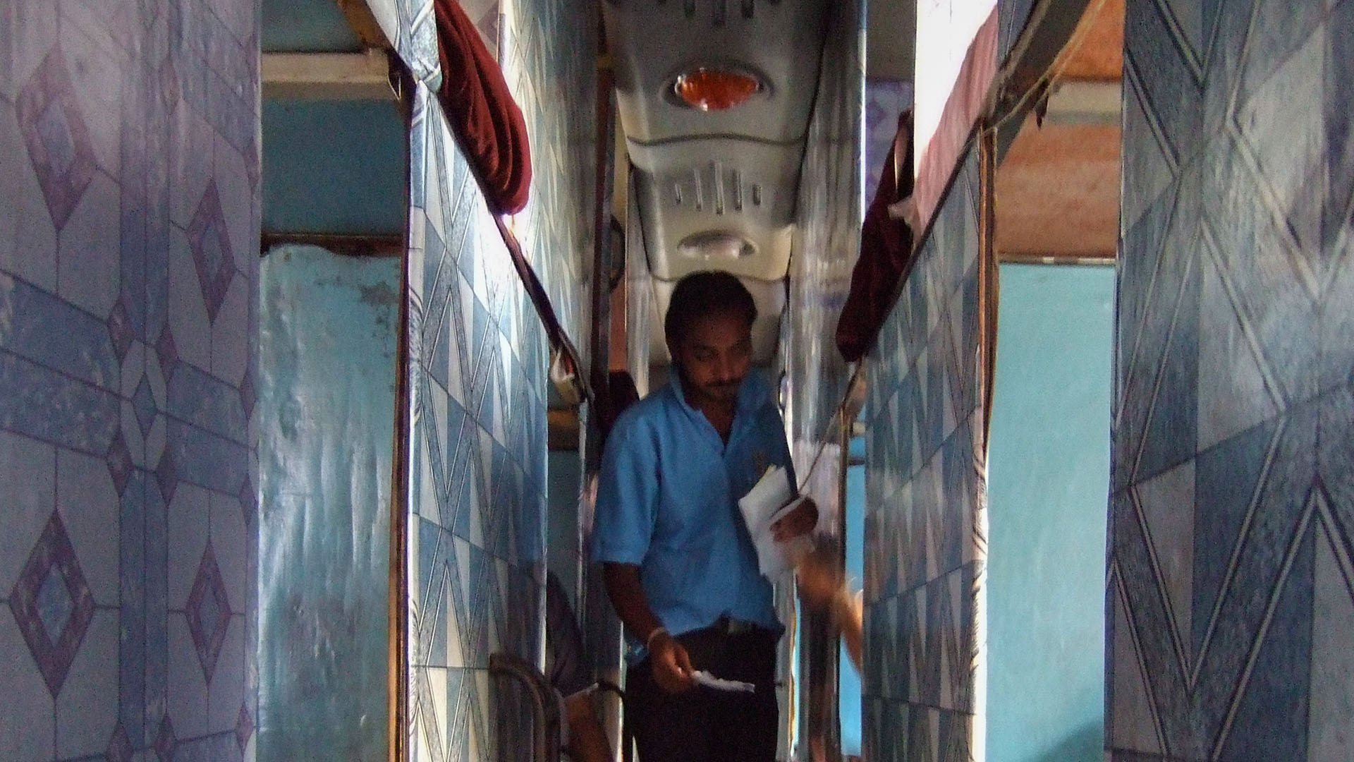 Yataklı otobüsün içi