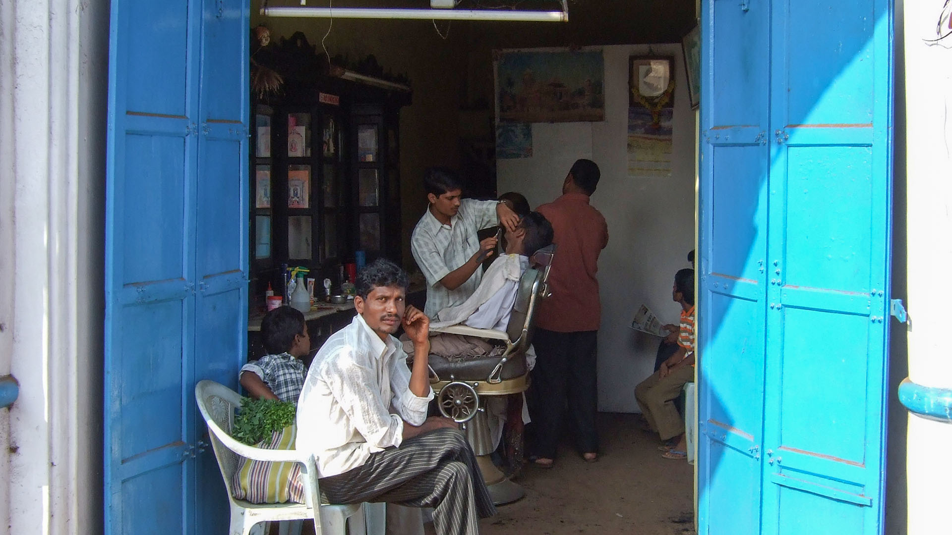 Bir berber dükkanı