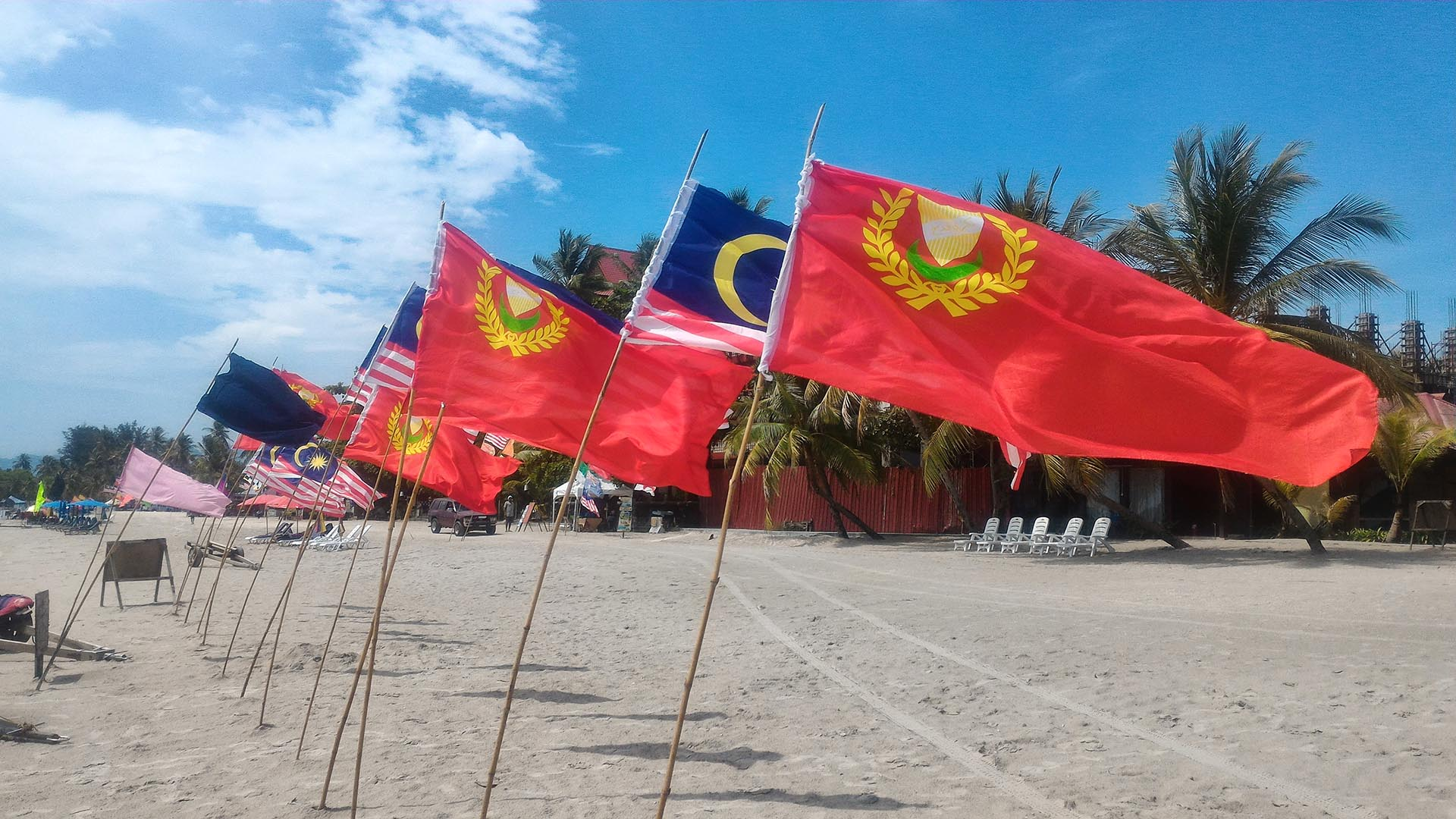 Malezya ve Kedah eyaleti bayrakları